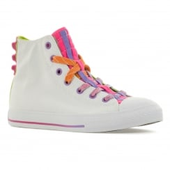 Converse Juniors Loopholes Hi 316 Trainers (White/Bold Lime/White)