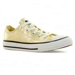 Converse Juniors Metallic Ox 316 Trainers (Light Gold/White)
