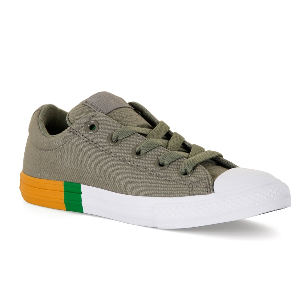 CONVERSE Converse Juniors Street Slip Trainers (Khaki) - Kids from ... 9693e2c60bcd