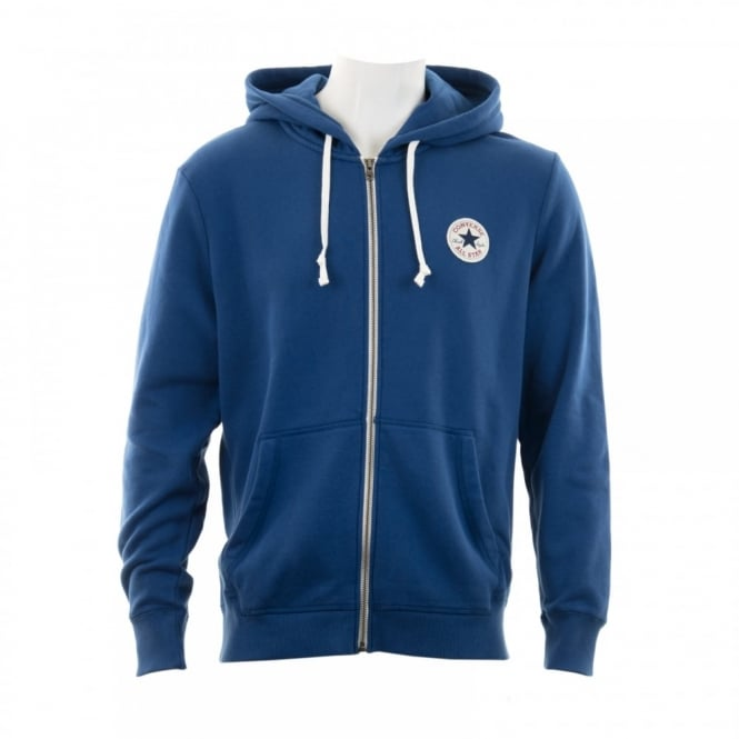 CONVERSE Mens 315 Full Zip Hooded Top (Blue)