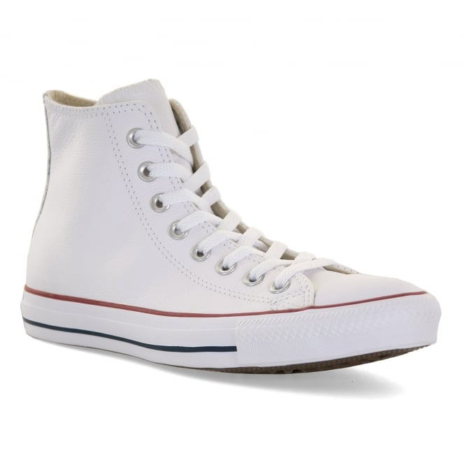 CONVERSE Mens Core Leahter HI Trainers (White)