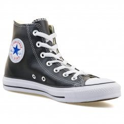 Converse Mens Core Leather HI Trainers (Black)