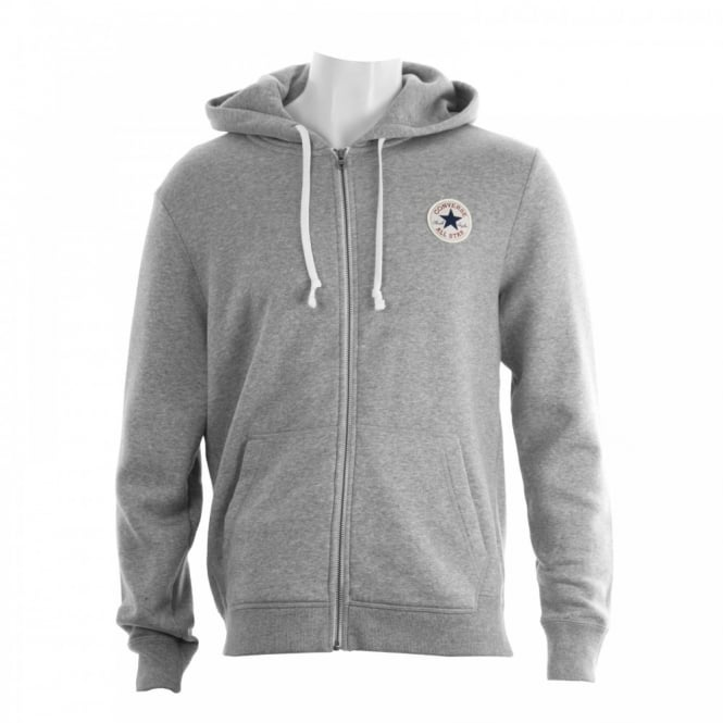 CONVERSE Mens Full Zip 315 Hooded Top (Grey)