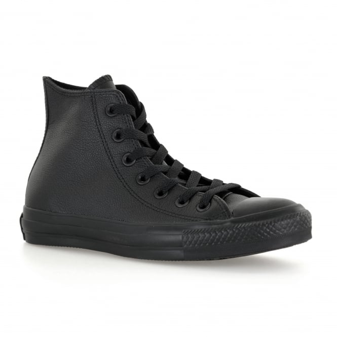 CONVERSE Mens Mono Leather OX Hi Trainers (Black)