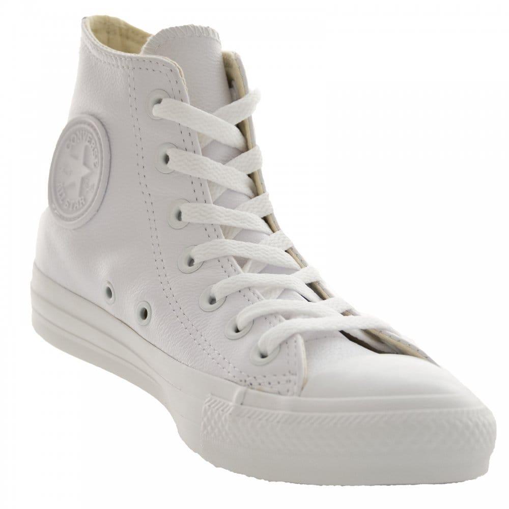 edf82e7995ba CONVERSE Converse Mens Mono Leather OX Hi Trainers (White) - Mens ...