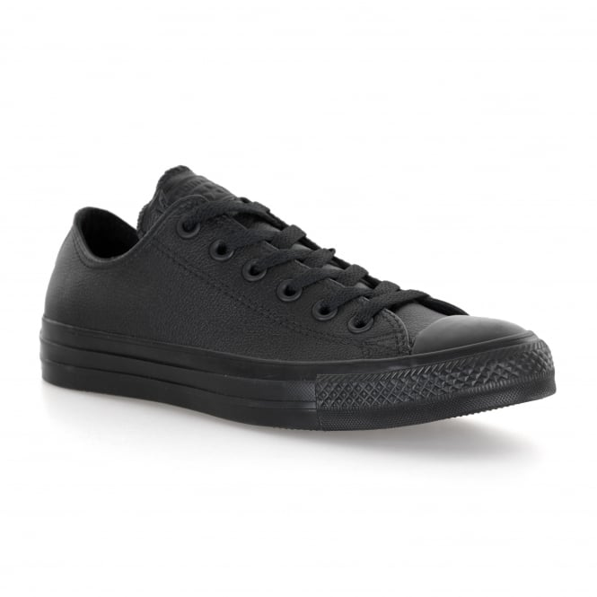 Converse Mens Mono Leather OX Trainers (Black)