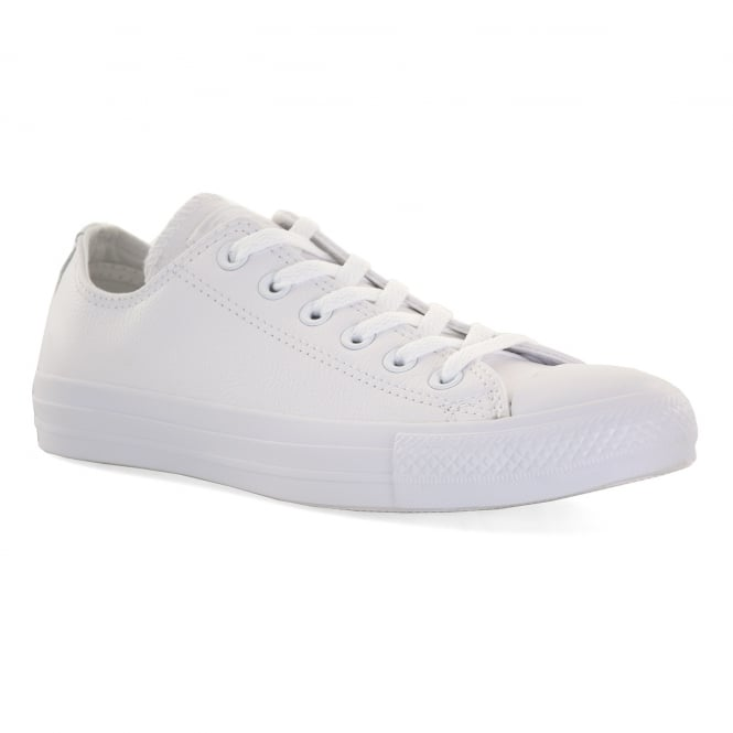 CONVERSE Mens Mono Leather OX Trainers (White)