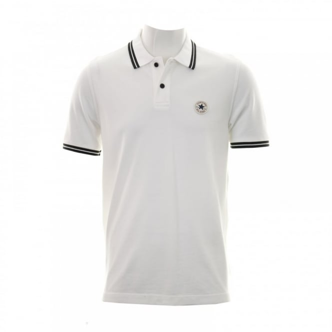 CONVERSE Mens Polo Shirt (White)