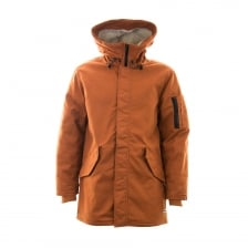 Converse Mens Quilted Warm Fishtail Parka Coat (Terracotta)