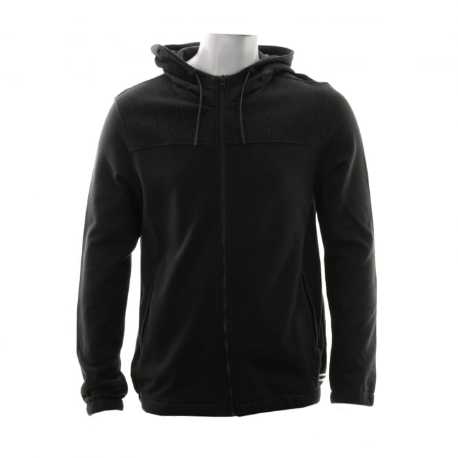 CONVERSE Mens Reflective 316 Hooded Top (Black)