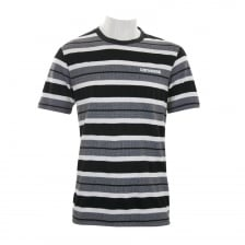 Converse Mens Stripe T-Shirt (White/Black)
