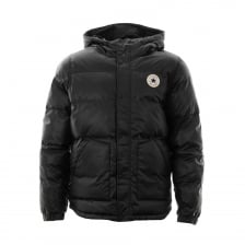 Converse Short Hooded Puffer Jacket (Black)