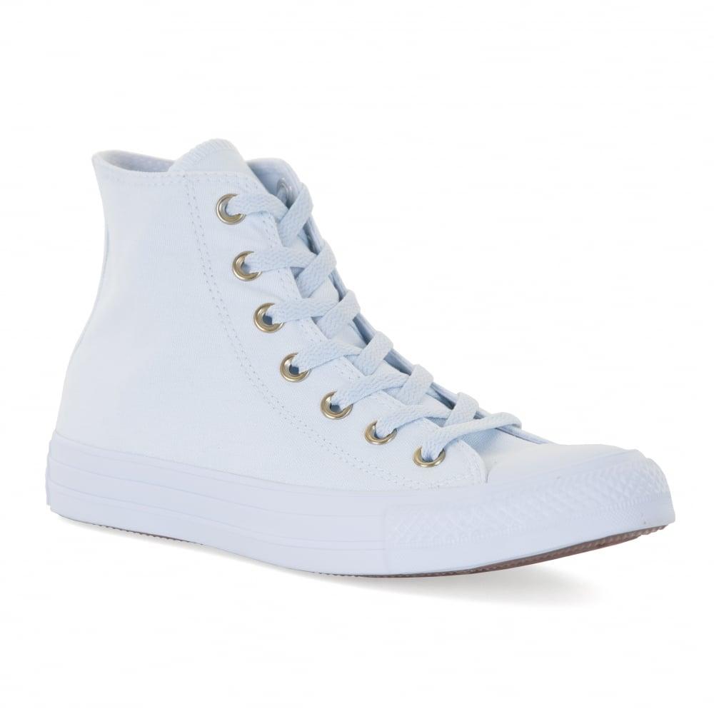 37c529a0b07a ... hot converse womens ct hi trainers pale blue 37695 686a2