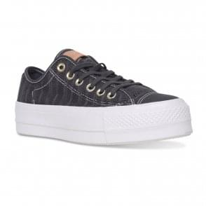 645ba82a4add Converse Womens Patent Sparkle Trainers (Black) - Womens from Loofes UK