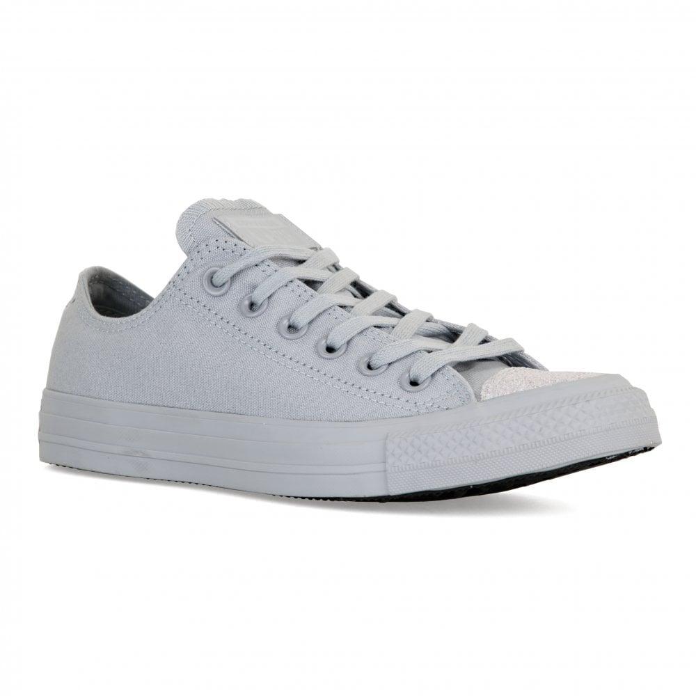ec0a5c9fd1c2 CONVERSE Converse Womens Glitter Toe OX Trainers (Grey) - Womens ...