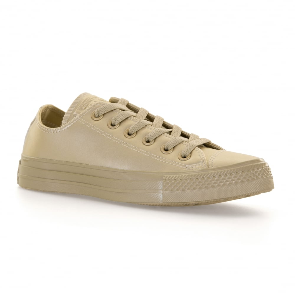 CONVERSE Converse Womens Metallic Leather 317 Trainers (Gold ... a09774245