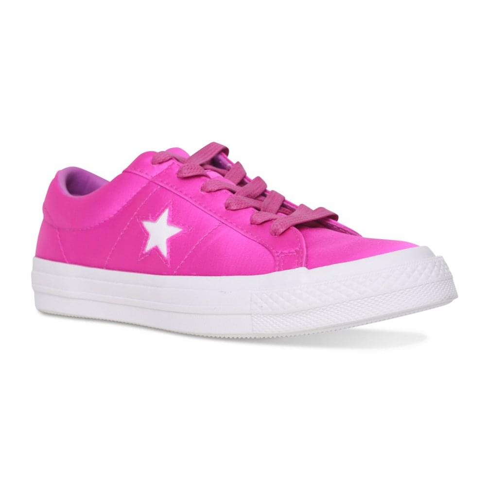 f558c5e4c8d Converse Womens One Star Satin Trainers (Pink) - Womens from Loofes UK