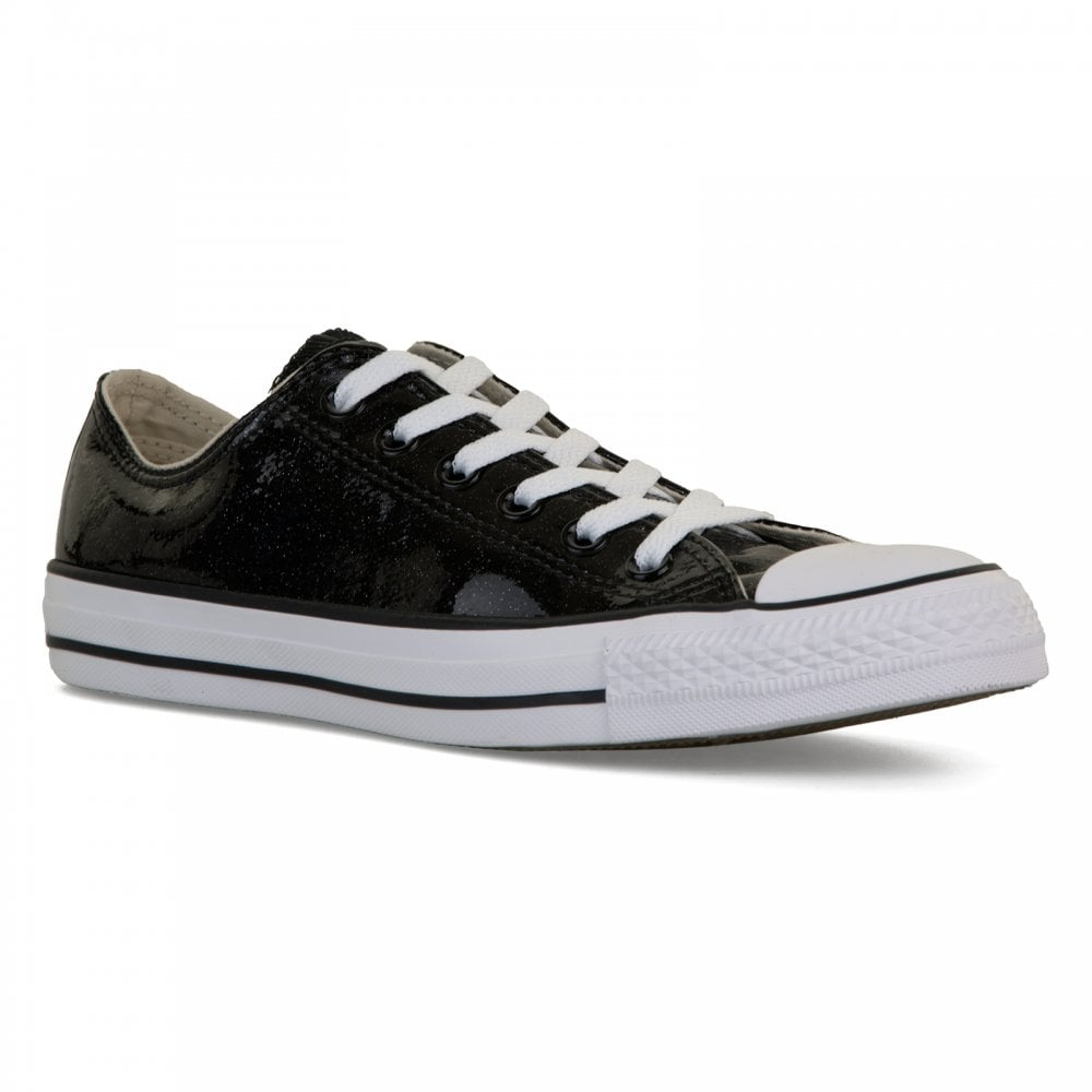 d795873b3fa Converse Womens Patent Sparkle Trainers (Black) - Womens from Loofes UK