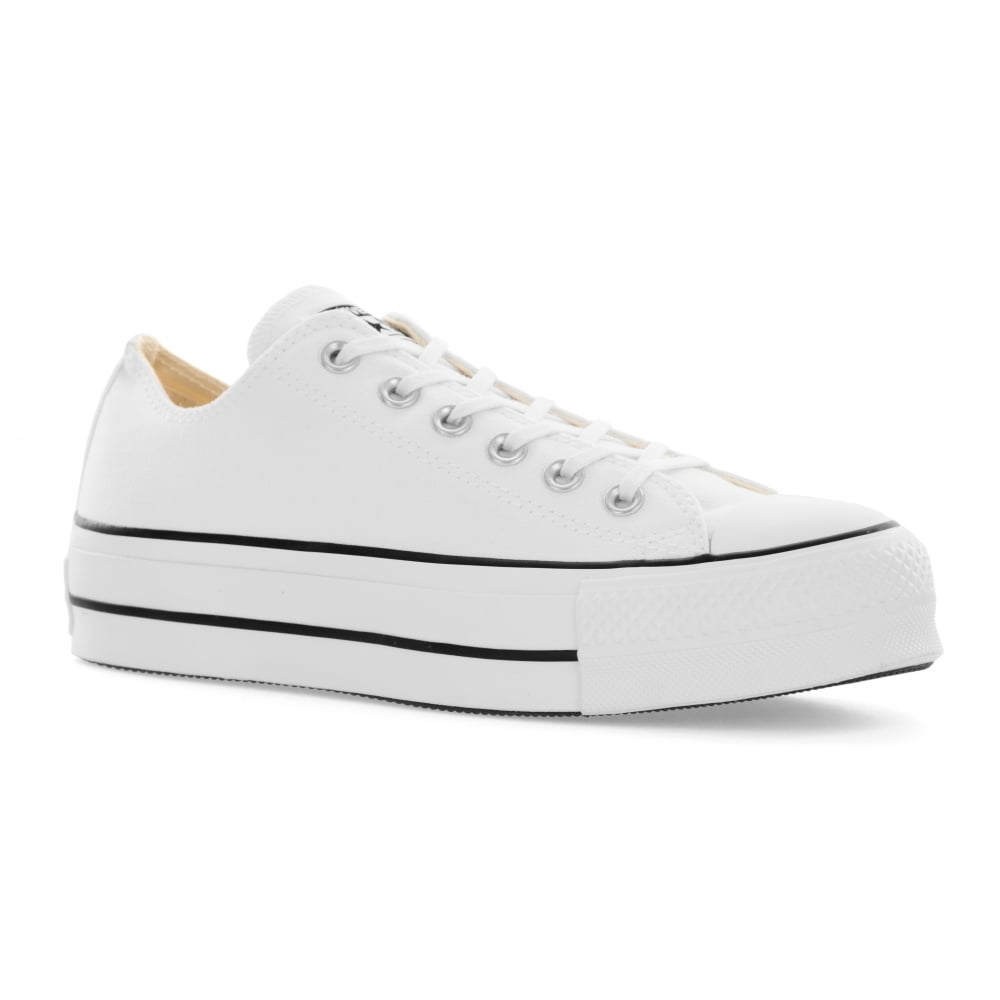 CONVERSE Converse Womens Platform OX Trainers (White) - Womens from ... 4a691625c769
