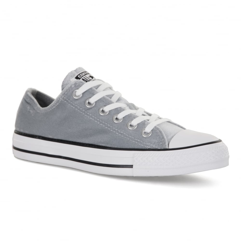 Converse Womens Velour OX 417 Trainers (Grey) - Womens from Loofes UK c76adbcb1c1c