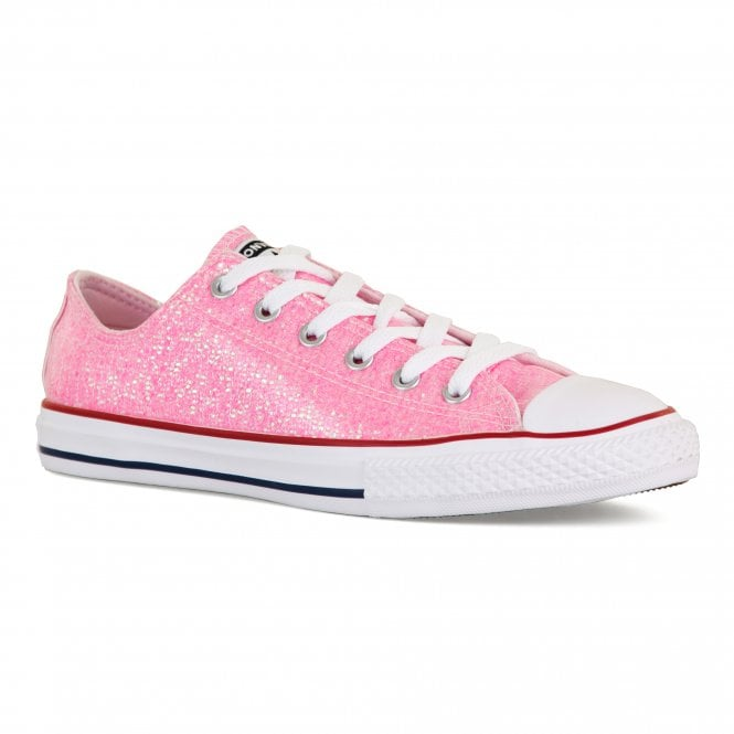 CONVERSE Converse Youths Glitter OX Trainers (Pink) - Kids from ... a93d86336