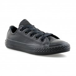 Converse Youths Mono Leather Trainers (Black)