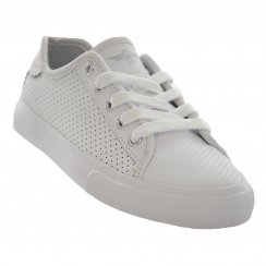 Creative Recreation Juniors Kaplan Perforated Trainers (White)