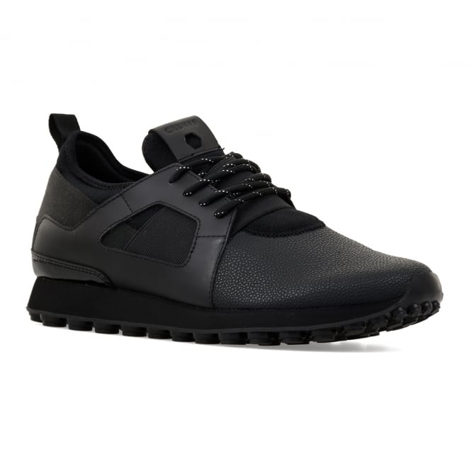 Cruyff Mens Trophy Traxx 416 Metal Ray Ghost Trainers (Black)