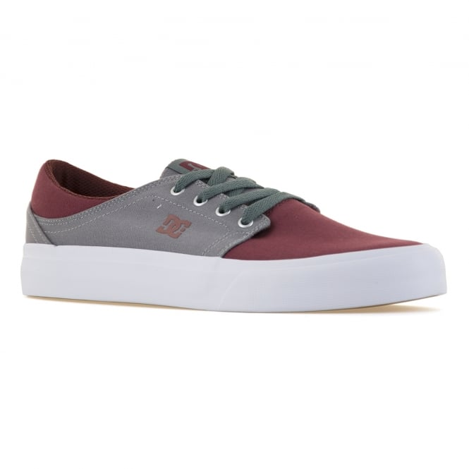 DC Shoes Mens Trase TX Trainers (Ox Blood/Light Grey)