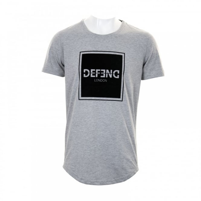 DEFEND Mens Cambridge Large Logo T-Shirt (Grey)