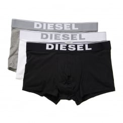 Diesel Mens 3 Pack Stretch Cotton Boxer Trunks (Multicoloured)