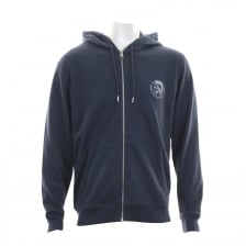 Diesel Mens Brandon Full Zip Hooded Sweat Top (Navy)