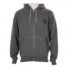 Diesel Mens Brandon Full Zip Hoodie (Grey)