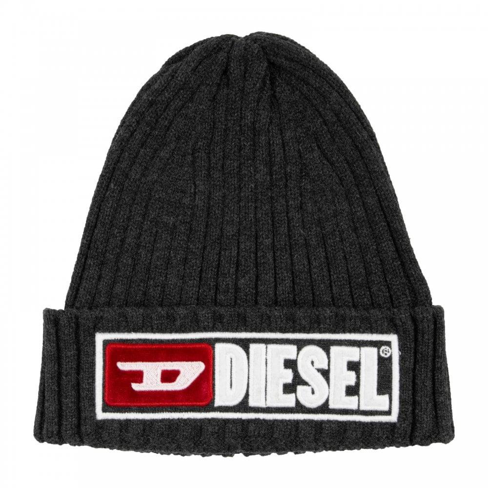 Diesel Mens K-Coder-B Beanie Hat (Grey) - Mens from Loofes UK a46e07e2d5d