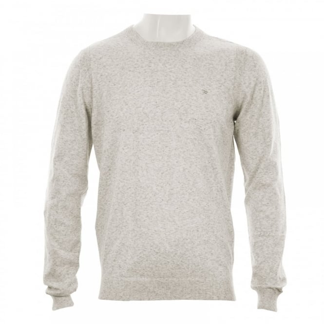 Diesel Mens Maniky Stripe Crew Knitwear (White/Grey)