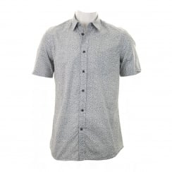 Diesel Mens S Palms Print Shirt (Grey)