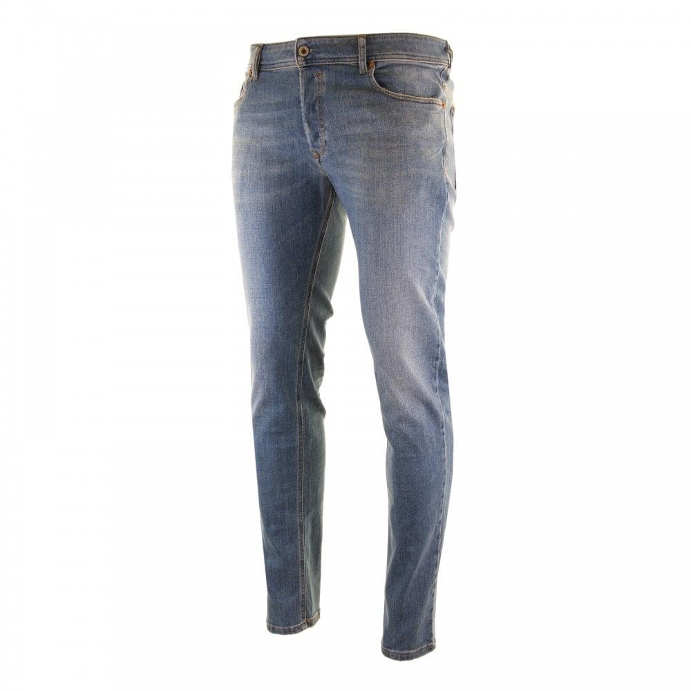 1f016c71e0c458 Diesel Mens Slim Skinny Sleenker Jeans (Blue) - Mens from Loofes UK