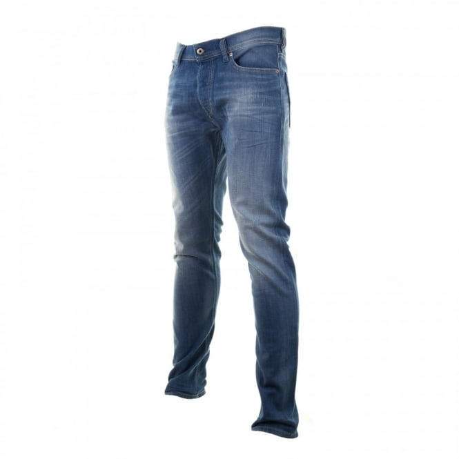 Diesel Mens Tepphar Slim Carrot Fit Jeans (Denim)