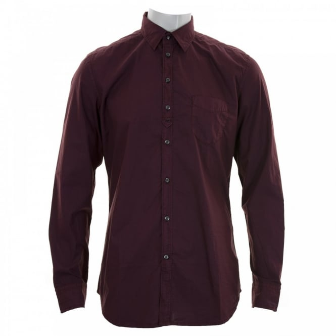 Diesel Mens Tomiko Shirt (Wine)