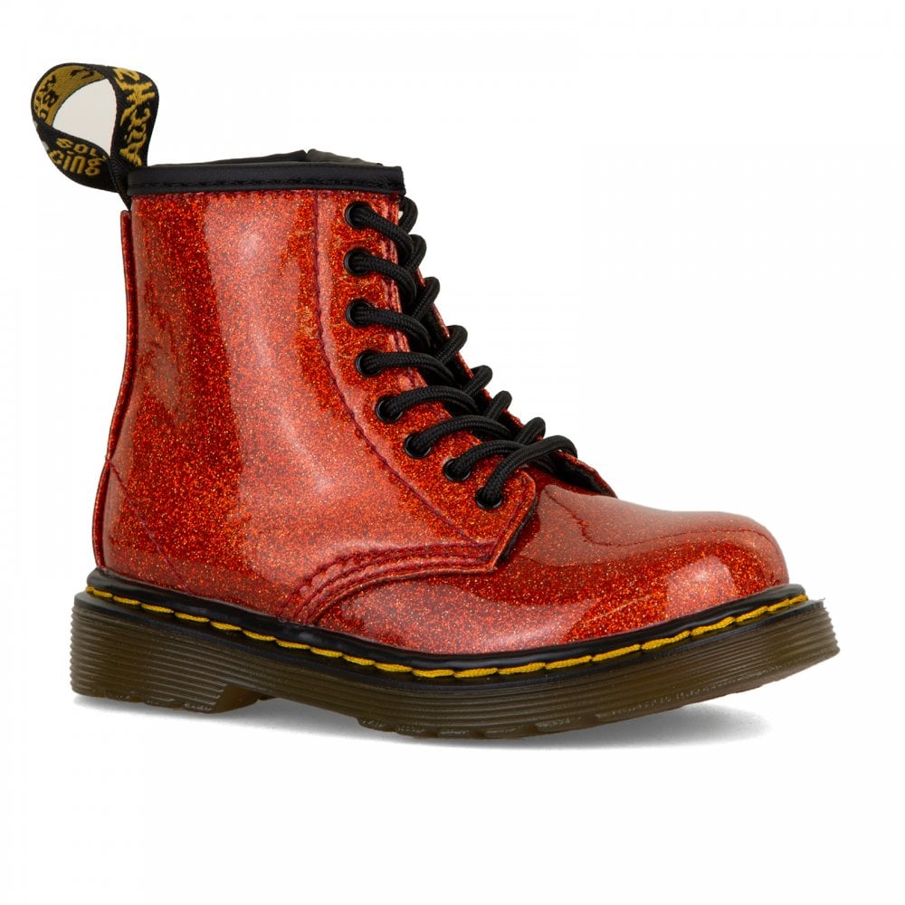 84d67a92b82 Dr. Martens Infants 1460 Glitter Boots (Red) - Kids from Loofes UK