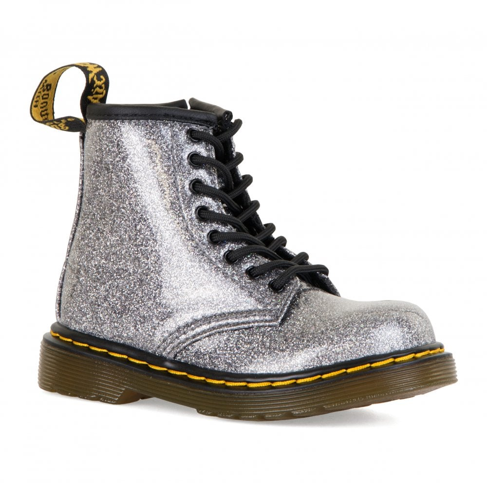 many choices of hot-selling fashion search for best Infants 1460 Glitter Boots (Silver)