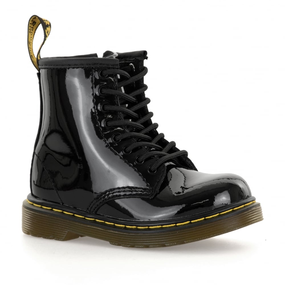 Dr. Martens Infants Brooklee Patent Boots (Black) c9882edb683