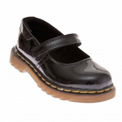 Dr. Martens Infants Tully Mary Jane Patent Shoes (Black)