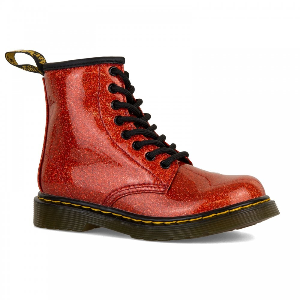 bb20216813ef4 Dr. Martens Juniors 1460 Glitter Boots (Red) - Kids from Loofes UK