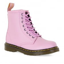 Dr. Martens Juniors Delaney Pebble Leather Boots (Pink)