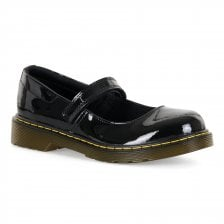 Dr. Martens Juniors Maccy Mary Jane Patent Shoes (Black)