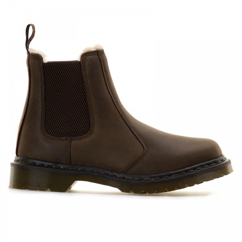 dr martens dr martens leonore chelsea boots brown dr. Black Bedroom Furniture Sets. Home Design Ideas