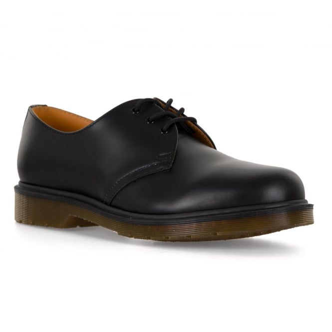 Dr. Martens Mens 1461PW Smooth Shoes (Black)
