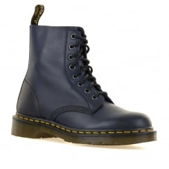 Dr. Martens Womens 8 Eye Pascal Antique Shoes (Navy Blue)