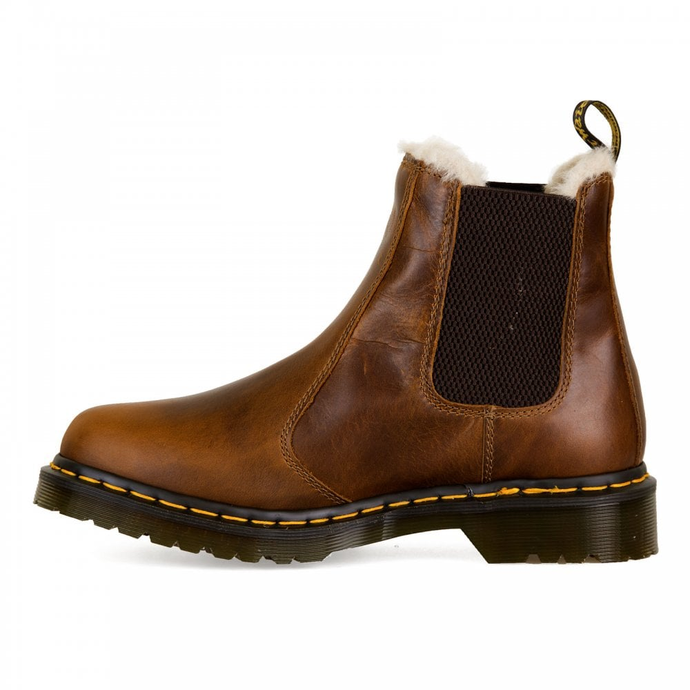 Dr. Martens Womens Leonore Fur Lined